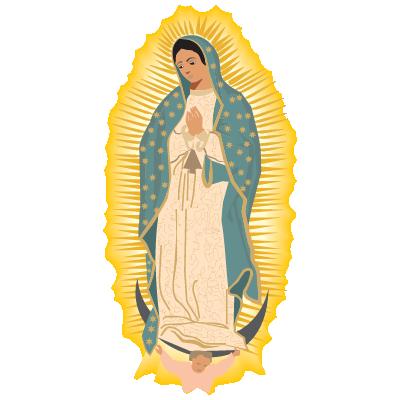 Virgen de Guadalupe vector, Virgen de Guadalupe in .EPS