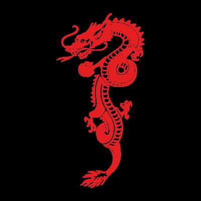 Red Dragon vector logo