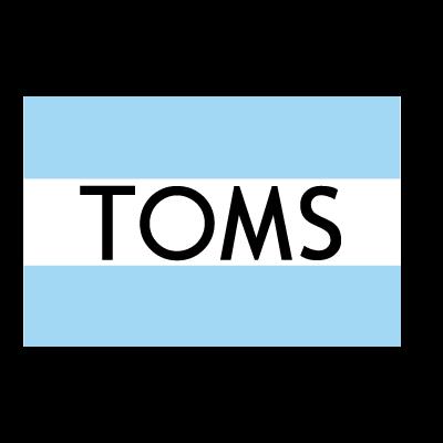 Toms shoes logo vector
