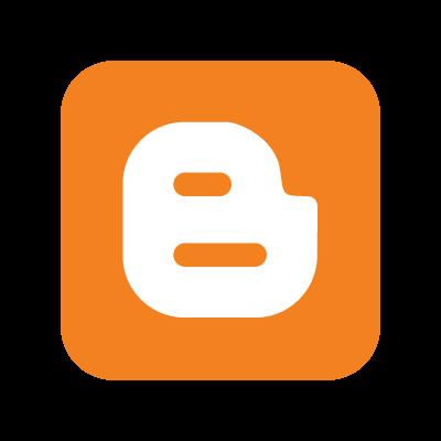 Blogger B logo vector