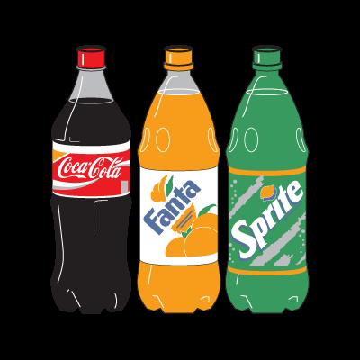 Coca-Cola Three Bottle logo vector