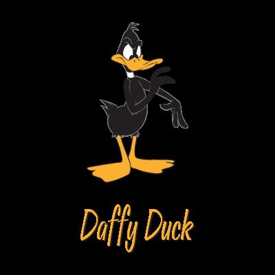 Daffy Duck Character logo vector