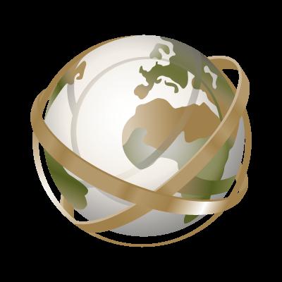 Globe tracing logo vector