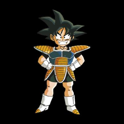 Goku dragon ball logo vector