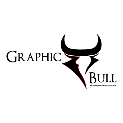 Graphic bull logo vector