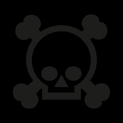 Grenade gloves skull logo vector
