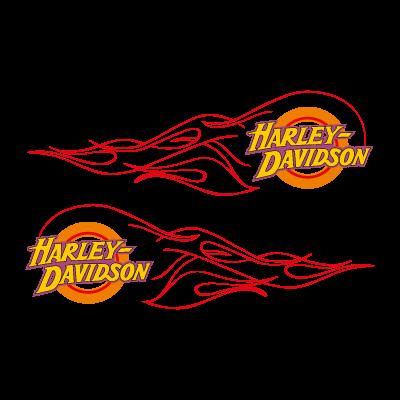 Harley-Davidson flame vector logo