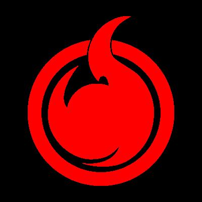Hell Girl fire symbol vector logo