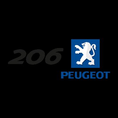 Peugeot 206 (.EPS) vector logo