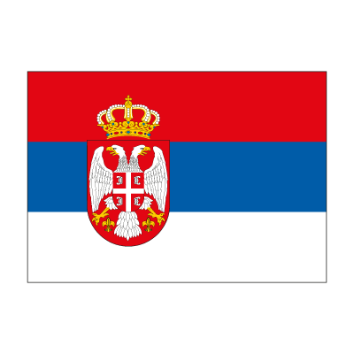 Flag of Serbia vector logo