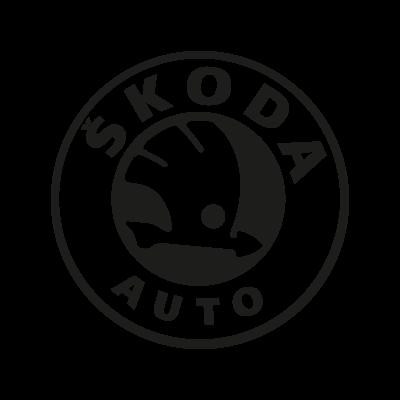 Skoda Auto black vector logo