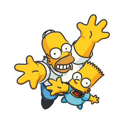 The Simpsons Homer vector logo