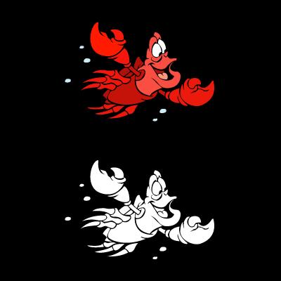 The little mermaid - Sebastian vector