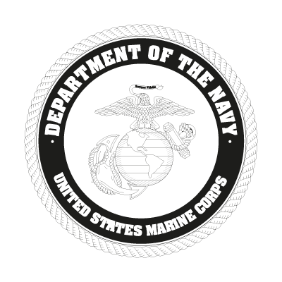 US Marine Corp Black vector logo