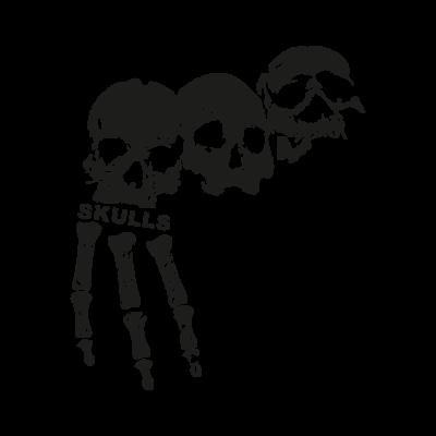 3 skulls vector logo
