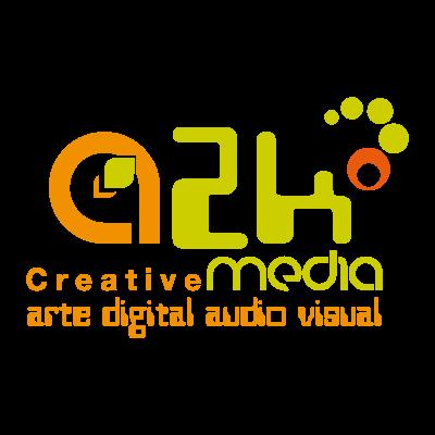 A2k creative media vector logo