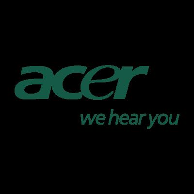 Acer we hear you vector logo