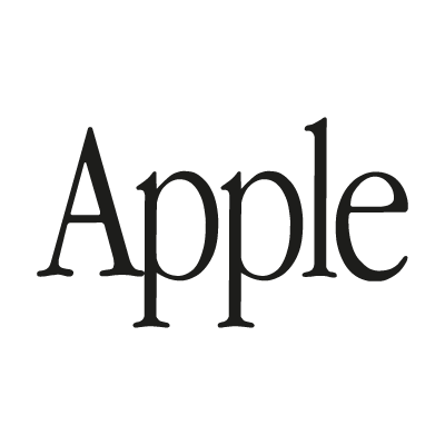 Apple (text) vector logo