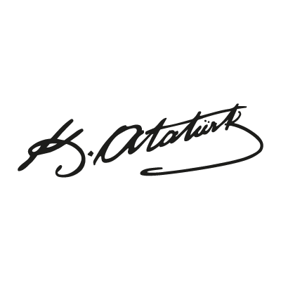 Ataturk (text) vector logo