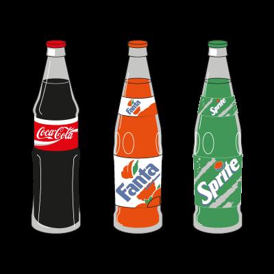 Coca-Cola 3 Products vector logo