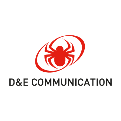 D&E Communication vector logo
