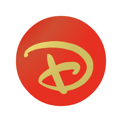 "Disney ""D"" ball vector logo"