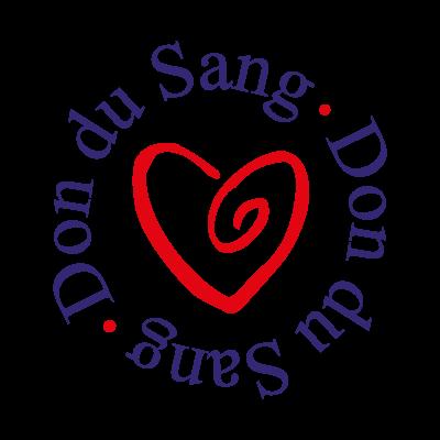 Don du sang vector logo