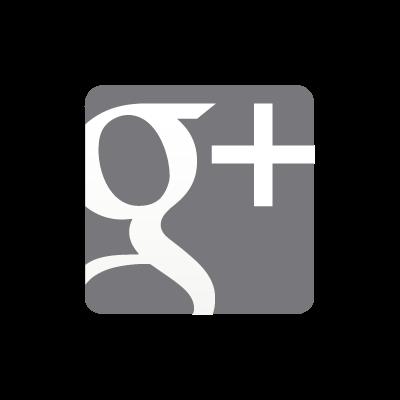 Google Plus grey vector logo