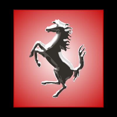 Ferrari Horse Silver vector logo