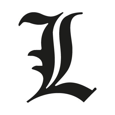 """""""L"""" letter from Death Note logo vector – Logo """"L"""" letter download"""