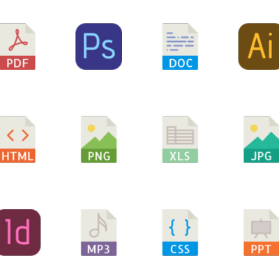 file-types vector icons