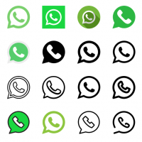 WhatsApp icons vector
