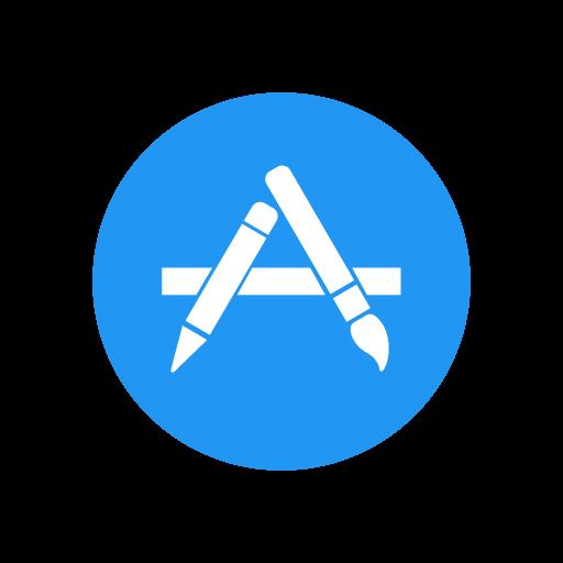 Apple App Store logo vector