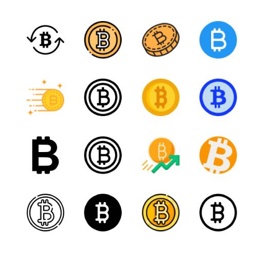 bitcoin-icons-vector